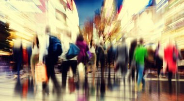 Commuter People Rush Hour Busy City Concept