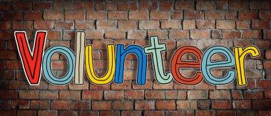 Volunteer and Brick Wall