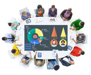 people around table with Analysis Concept