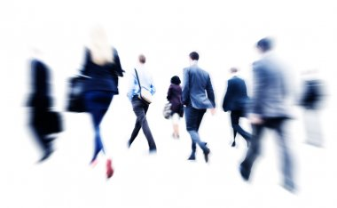 Business People Walking in Rush Hour