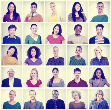 Portraits of multi ethnic people