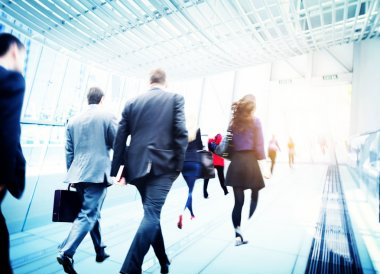 Business People in Motion