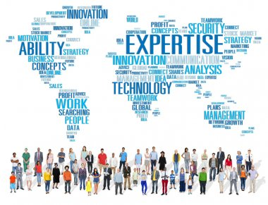 Diverse people and Expertise Concept