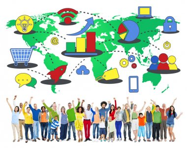 People and Marketing Global Business Concept