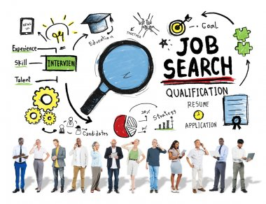 Business People and Job Search Concept