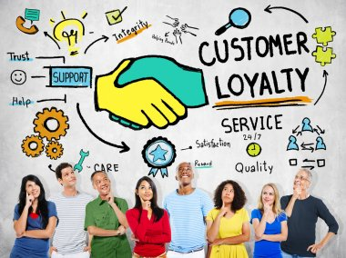 people and Customer Loyalty Concept