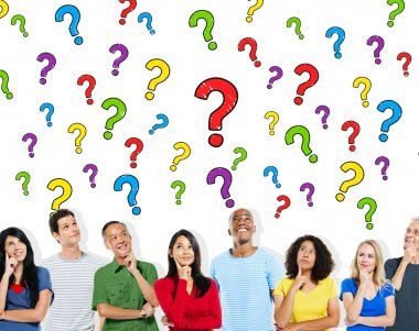 Group of People Asking Questions