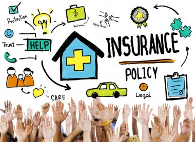 Diverse hands and Insurance Policy