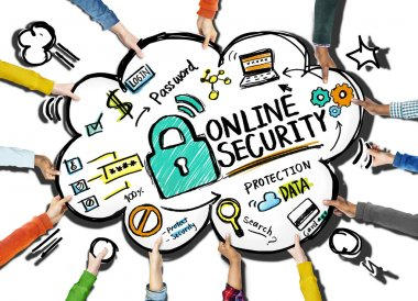 Online Security Protection Internet hands