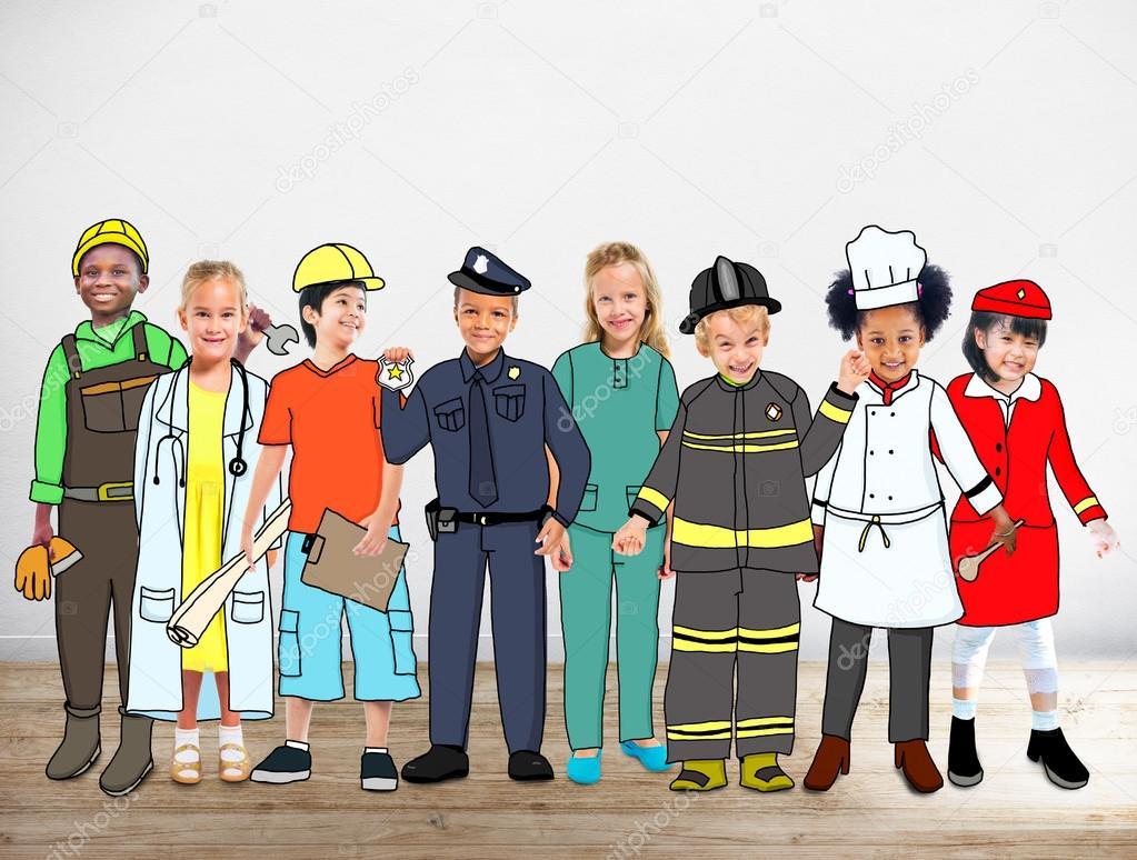 Resultado de imagem para criancas as profissões