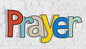Hands holding Prayer Word