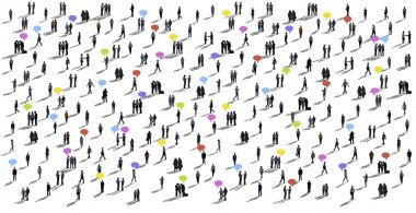 Communication People Diverse Crowd of Business People
