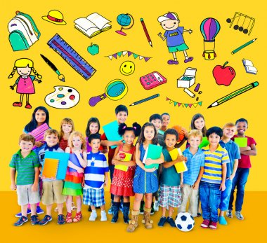 Education concept with group of children