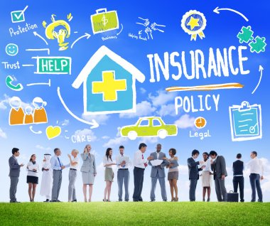 Business People and Insurance Concept