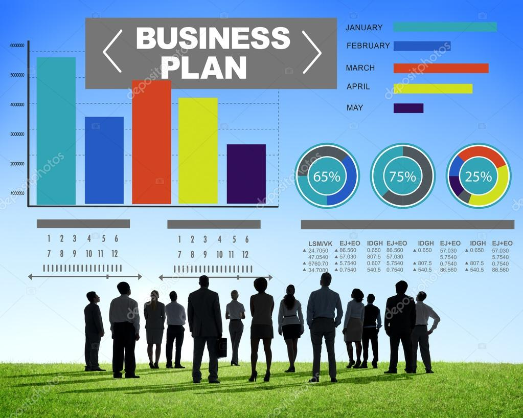 business plan graphs brainstorming strategy idea stock photo