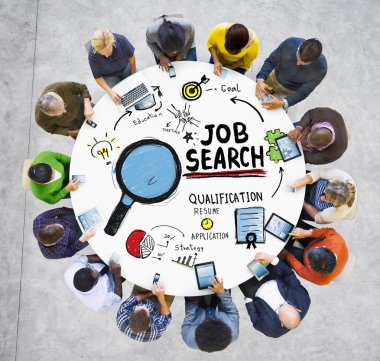 Diverse People and Job Search Concept