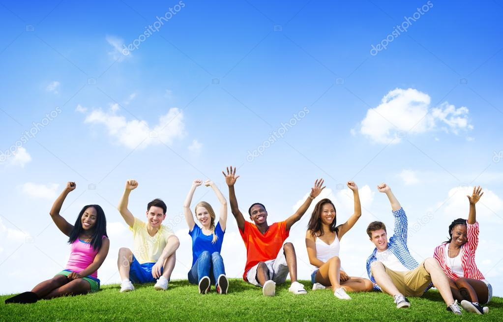 Group of Friends Outdoors Concept