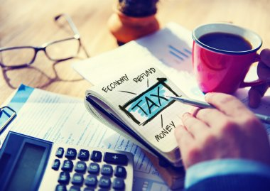 Businessman working with Tax