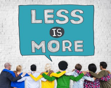 Diverse people and Less is More Concept