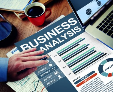 Businessman working with Business Analysis