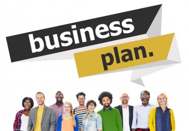 Diverse people and Business Plan Strategy