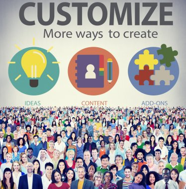 Diverse people and Customize Concept