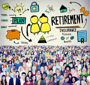 Diverse people and Retirement Concept