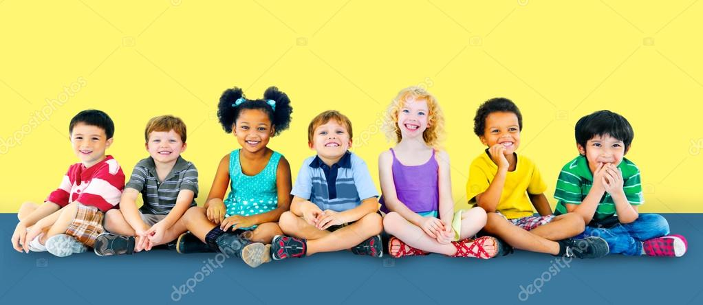 Diversity Children Sitting together