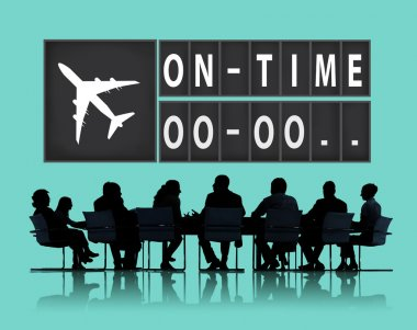 On Time Punctual Organization Concept