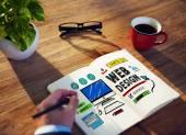 Web design vývoj stylu myšlenky rozhraní koncepce