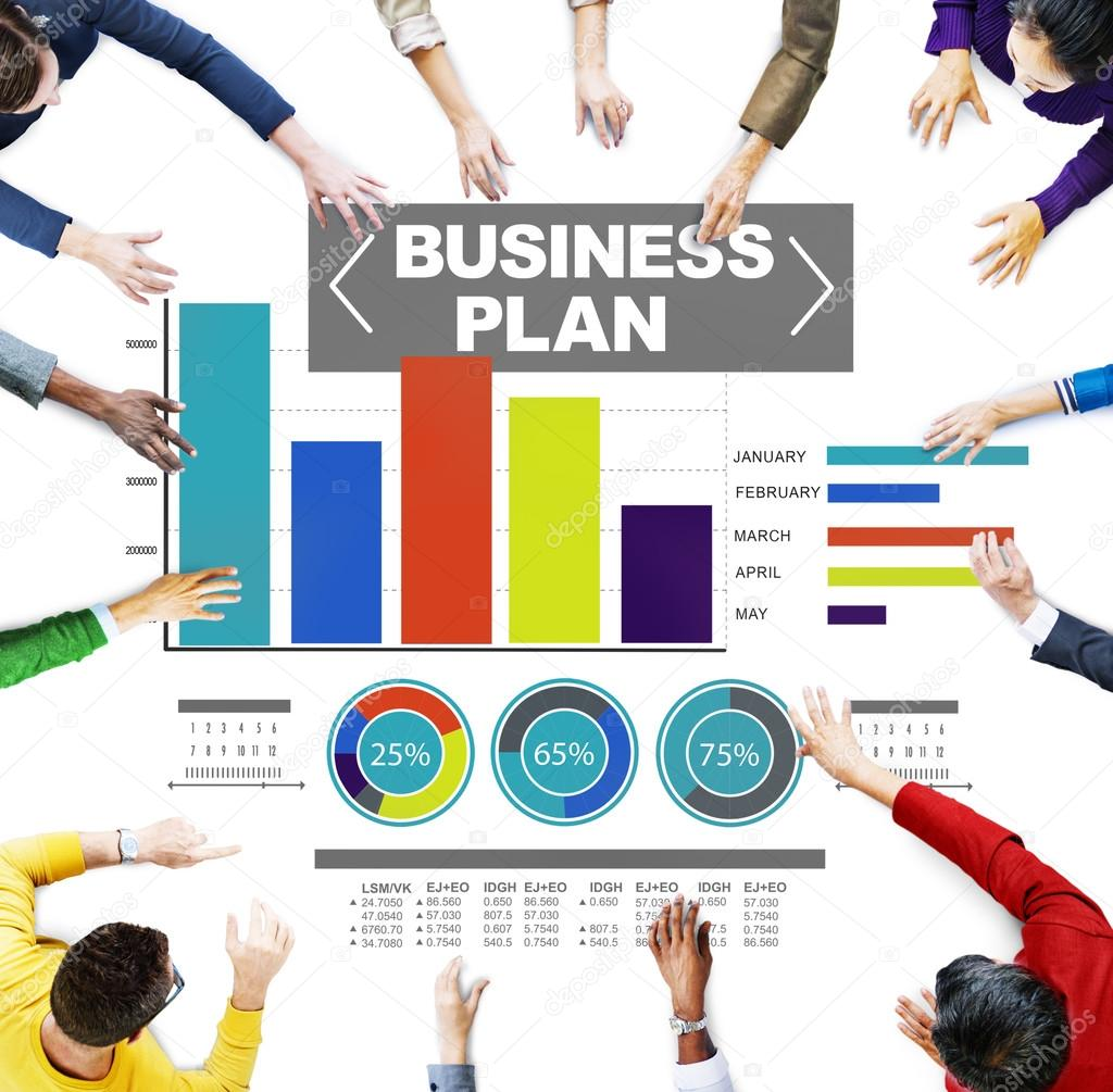business plan graph brainstorming strategy idea info stock photo