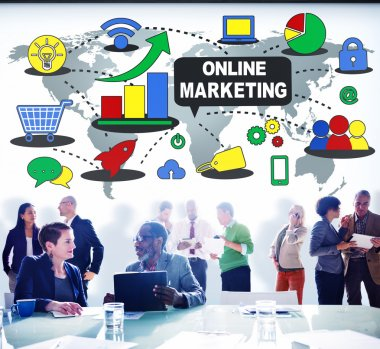 Online Marketing Promotion Concept