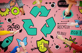 Fotografie Recycle Reduce Reuse Eco Concept