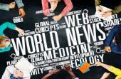Rozdílní lidé a World News koncepce