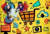 Fotografie online marketing Strategiekonzept