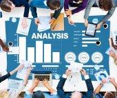 Fotografie Analysis Bar graph Chart Concept