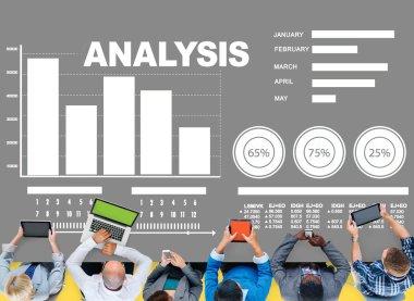 Analysis Bar graph Chart Concept