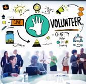 Volunteer Charity Help Assisting Concept