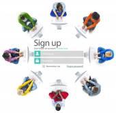 Sign Up Register  Concept