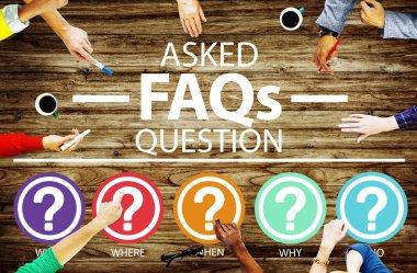 FAQ Problems Concept