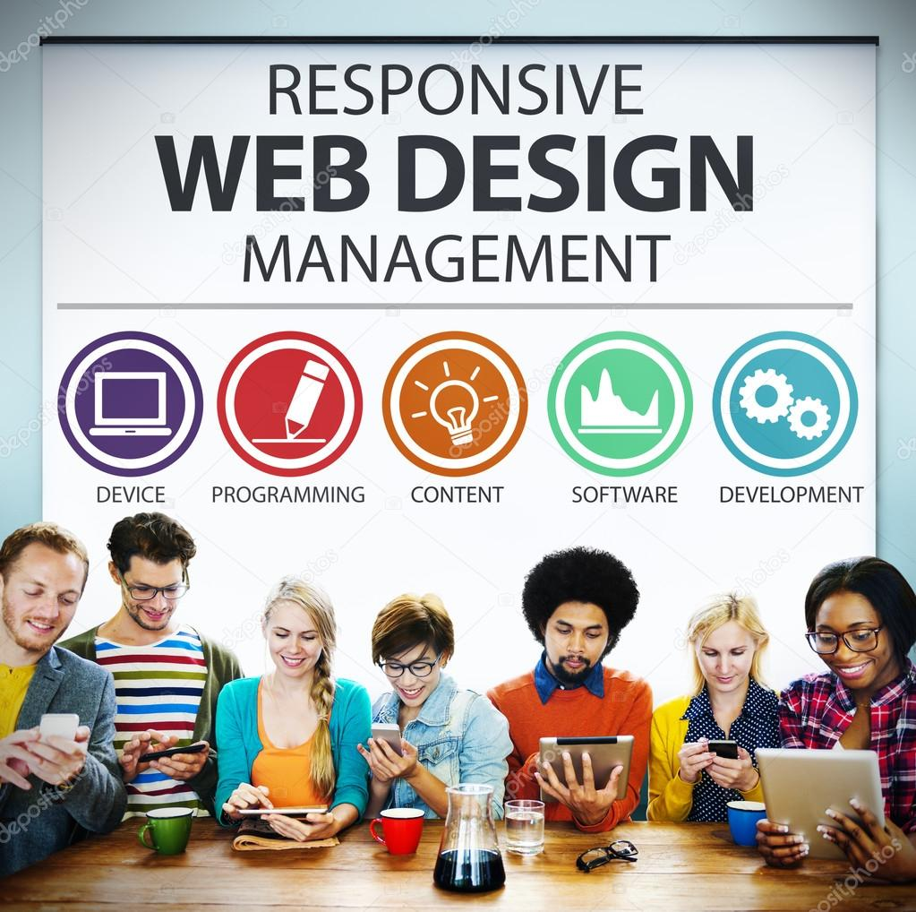 Responsive Web Design Management Concept