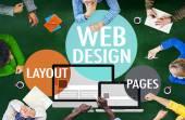 Web-Design-Inhalt-Konzept