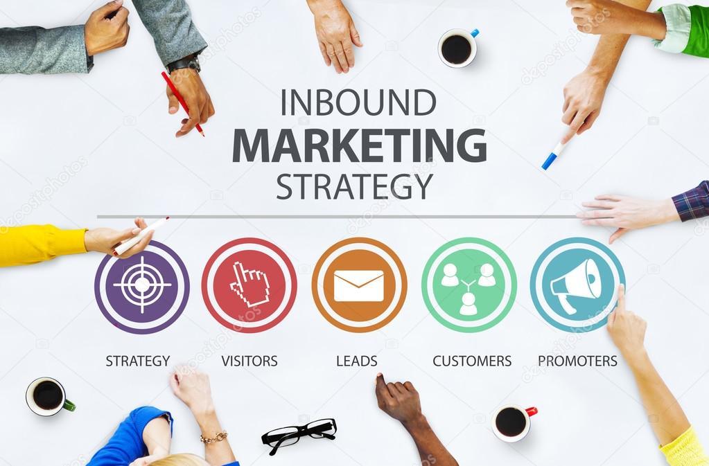 Inbound Marketing Strategy Concept
