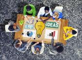 Ideen Kreativität Graph Inspiration Konzept