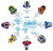 Technologie globální komunikační koncept