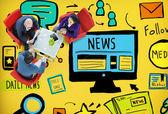 News Article Advertisement  Concept