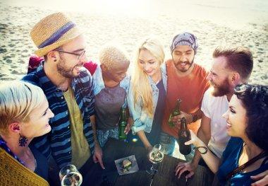 Summer Friends Fun Bonding Concept