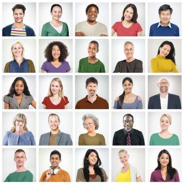 Human Faces Community Concept
