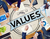 Photo Values Promotion Quality Concept