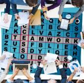 Fotografie Success Crossword Puzzle Words Achievement Game Concept